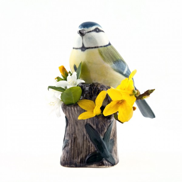 66091--Vase Blue Tit