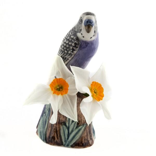 66105--Vase Wellensittich violett